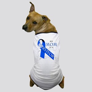 My Mom is a Survivor (blue) Dog T-Shirt